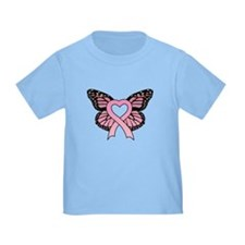 Pink Ribbon Butterfly T