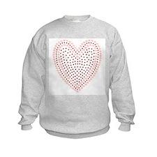 GIRLS PINK HEART SWEATSHIRT
