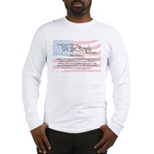 Amendment I and Flag Long Sleeve T-Shirt