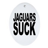 Jaguars Suck Oval Ornament