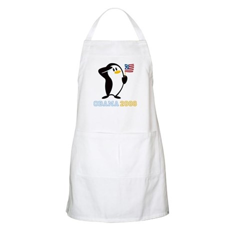 Proud Penguin OBAMA 2008 BBQ Apron