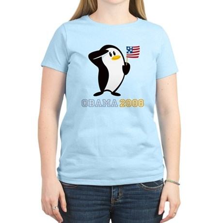 Proud Penguin OBAMA 2008 Women's Light T-Shirt