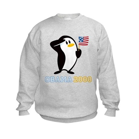 Proud Penguin OBAMA 2008 Kids Sweatshirt