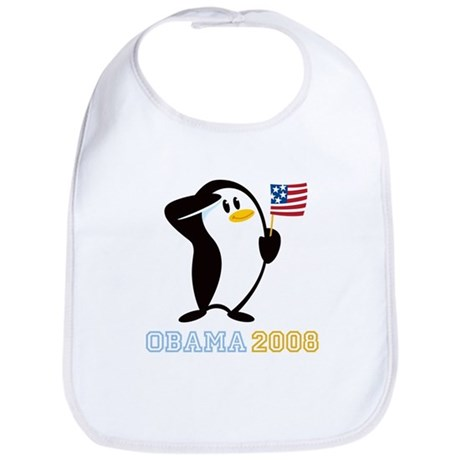 Proud Penguin OBAMA 2008 Bib