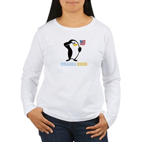 Proud Penguin OBAMA 2008 Women's Long Sleeve T-Shi