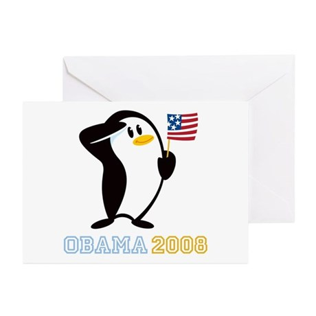 Proud Penguin OBAMA 2008 Greeting Cards (Pk of 10)