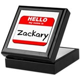 Hello my name is Zackary Keepsake Box