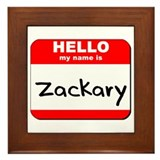 Hello my name is Zackary Framed Tile
