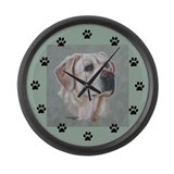 Yellow Lab Molly Large Wall Clock