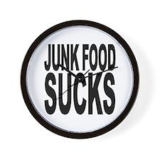 Junk Food Sucks Wall Clock