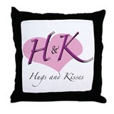 Hugs & Kisses Throw Pillow