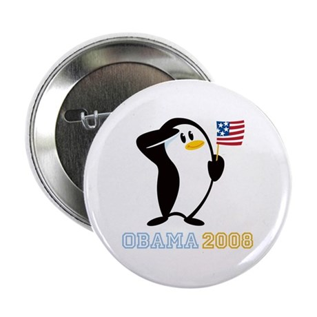 "Proud Penguin OBAMA 2008 2.25"" Button"