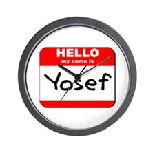 Hello my name is Yosef Wall Clock