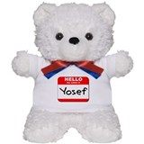 Hello my name is Yosef Teddy Bear