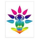 Rainbow Seated Yogi Small Poster