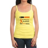 Leukemia I Wear Orange Tank Top