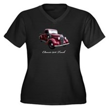 1936 Old Pickup Truck Women's Plus Size V-Neck Dar