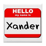 Hello my name is Xander Tile Coaster
