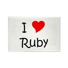 Cute Rubi Rectangle Magnet