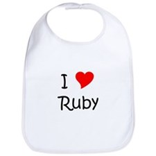 Cute Ruby Bib