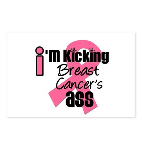 KickingBreastCancerAss Postcards (Package of 8)