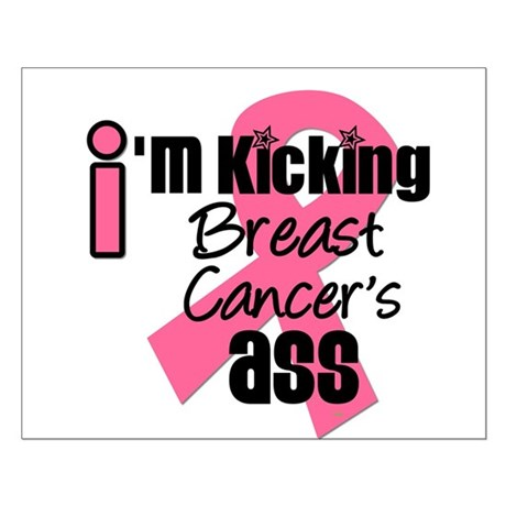 KickingBreastCancerAss Small Poster