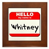 Hello my name is Whitney Framed Tile