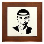 B-ball Obama Framed Tile