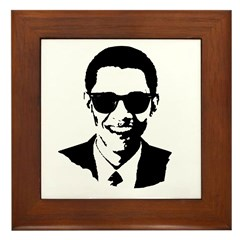 Obama Raybans Framed Tile