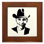 Cowboy Obama Framed Tile