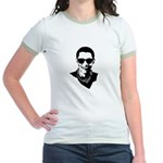 Hipster Obama Jr. Ringer T-Shirt