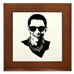Hipster Obama Framed Tile