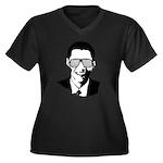 Kanye Obama Women's Plus Size V-Neck Dark T-Shirt