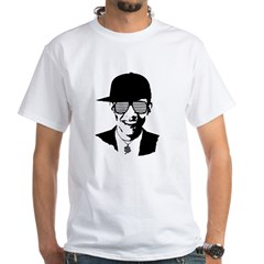Barack Obama Hipster Glasses White T-Shirt