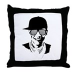 Barack Obama Hipster Throw Pillow