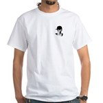 Barack Obama Hipster White T-Shirt