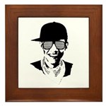 Barack Obama Hipster Framed Tile