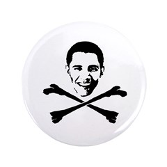 "Obama Crossbones 3.5"" Button"