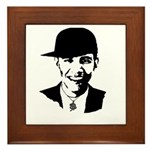 Barack Obama Bling Framed Tile