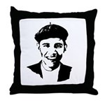 Barack Obama Beret Throw Pillow