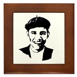 Barack Obama Beret Framed Tile