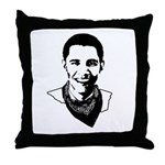 Barack Obama Bandana Throw Pillow