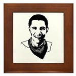 Barack Obama Bandana Framed Tile