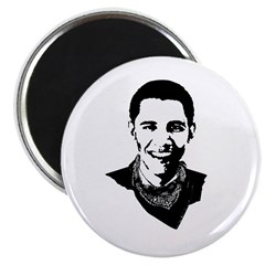 """Barack Obama Bandana 2.25"""" Magnet (10 pack)"""