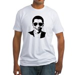 Barack Obama Sunglasses Fitted T-Shirt