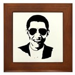 Barack Obama Sunglasses Framed Tile