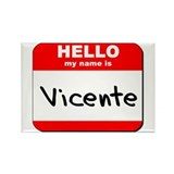 Hello my name is Vicente Rectangle Magnet (10 pack