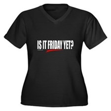 IS IT FRIDAY YET? Women's Plus Size V-Neck Dark T-