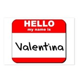 Hello my name is Valentina Postcards (Package of 8