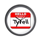 Hello my name is Tyrell Wall Clock
